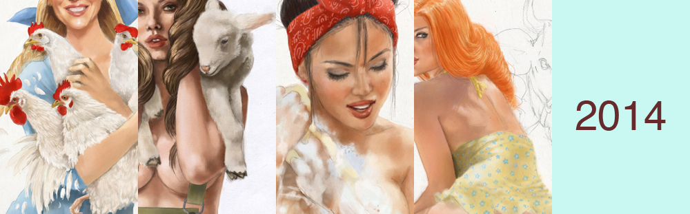 иллюстрации для календаря ветеринарной компании, занимающейся поставками ветпрепаратов, в том числе и для сельского хозяйства.